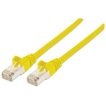Intellinet Network Patch Cable, Cat7 Cable/Cat6A Plugs, 1.5m, Yellow, Copper, S/FTP, LSOH / LSZH, PVC, RJ45, Gold Plated Contacts, Snagless, Booted, Polybag
