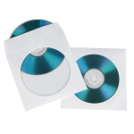 Hama CD Paper Sleeves, white, 100 pcs/Pack 1 discs