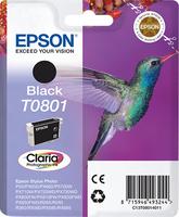 Epson Hummingbird Singlepack Black T0801 Claria Photographic Ink