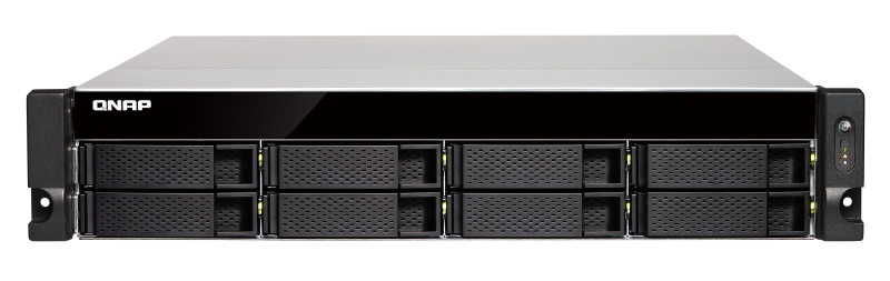 QNAP TS-873U-RP Ethernet LAN Rack (2U) Aluminium, Black NAS
