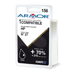 Armor K20113 (156) compatible Printhead black, 490 pages @ 5% coverage, 21ml, Pack qty 6 (replaces HP 27)