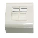 MCL BM745/CT6A-2 caja de tomacorriente Blanco