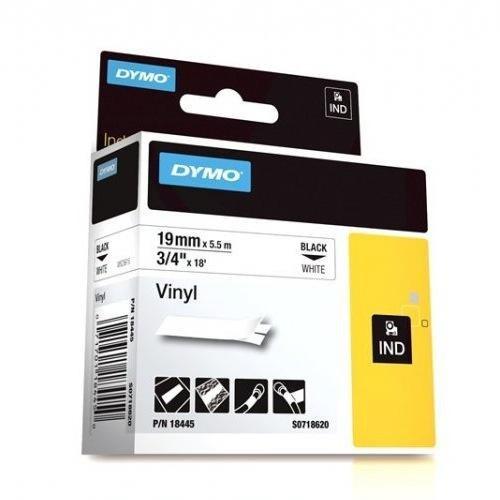 DYMO SD18445 Vinyl , 19mm - Black on White