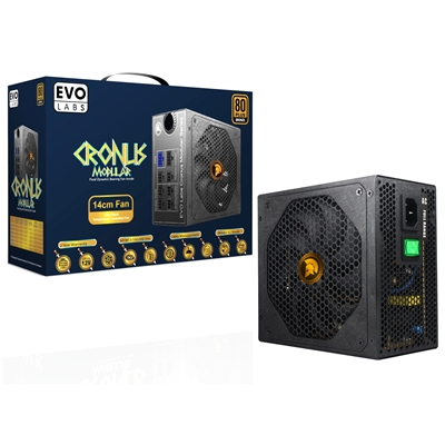 CRONUS 750W 140mm Ultra Silent Intelligent Temperature Controlled FDB Fan 80 PLUS Bronze Semi Modula