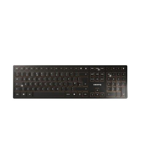 CHERRY DW 9000 SLIM, Wireless Keyboard & Mouse Set (RF/Bluetooth), Black, USB (AZERTY - FR)