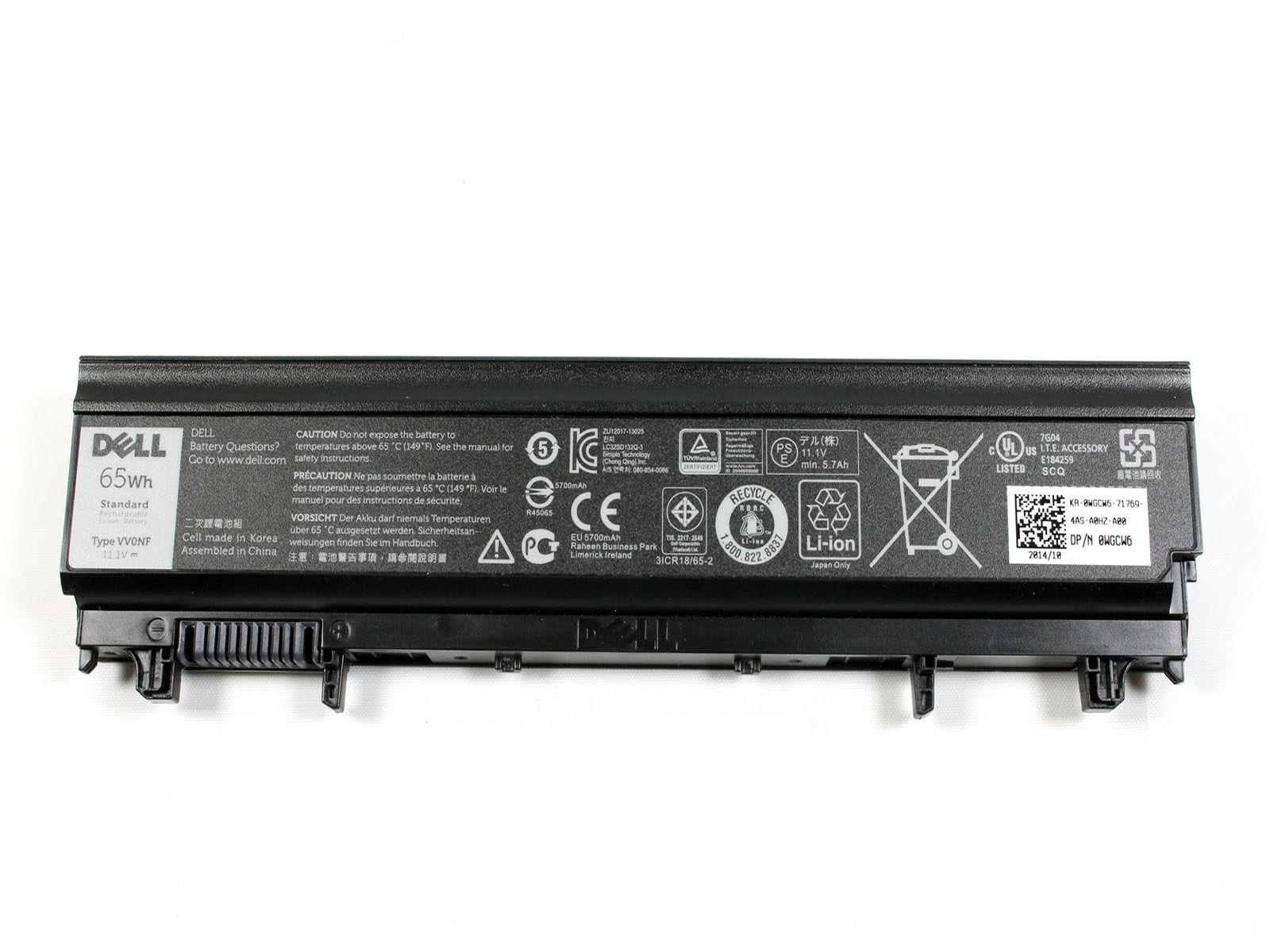 DELL WGCW6 notebook spare part Battery