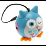 KitSound Mini Buddy Owl Speaker Blue