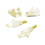 FDL WING MOULDED SNAGPROOF RJ45 CABLE BOOT - WHITE
