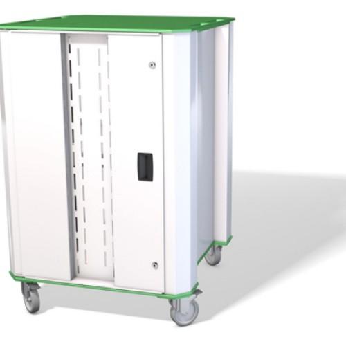 Nuwco PLASCHROME32G portable device management cart/cabinet Green,White