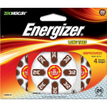 Energizer Hearing Aid EZ Turn & Lock 312 (24 pack) Single-use battery Zinc-Air