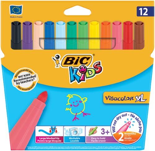 BIC Visacolor XL felt pen Bold Multicolor 12 pc(s)