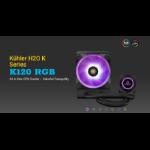 Antec Kuhler K120 RGB All in One CPU Liquid Cooler, LGA 2066, 2011, 115x, AMx, FMx. 3 Yr Warranty