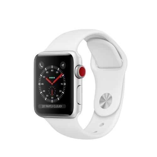 Apple Watch Series 3 smartwatch Silver OLED Cellular GPS (satellite)