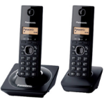 Panasonic KX-TG1712MEB DECT Identificador de llamadas Negro teléfono