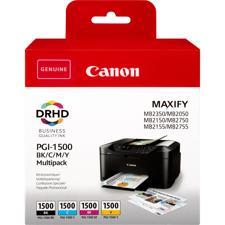 Canon 9218B005 (PGI-1500 BKCMY) Ink cartridge multi pack, 12,4ml + 3x4,5ml, Pack qty 4