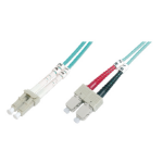 ASSMANN Electronic LC/SC, 3m Glasvezel kabel OM4 Multi kleuren