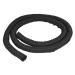 """StarTech.com Manga de Gestión de Cables de 2m - Envoltura de Cable Flexible en Espiral - Maga Expandible 1,0-1,5"""" de Diámetro - Organizador/Protector/Corrector de Poliéster - Organizador de Cables Recortable Negro"""