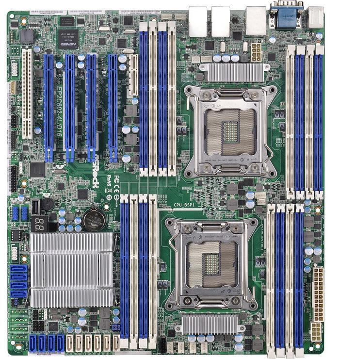 Asrock EP2C602-4L/D16 Intel C602 LGA 2011 (Socket R) SSI EEB server/workstation motherboard