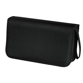 Hama CD Wallet Nylon 80, black 80discs Black