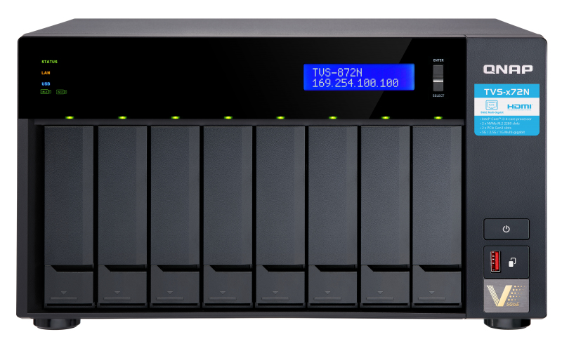 QNAP TVS-872N i3-8100T Ethernet Tower Negro NAS