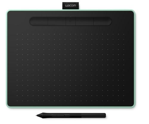Wacom Intuos M Bluetooth graphic tablet 2540 lpi 216 x 135 mm USB/Bluetooth Black, Green
