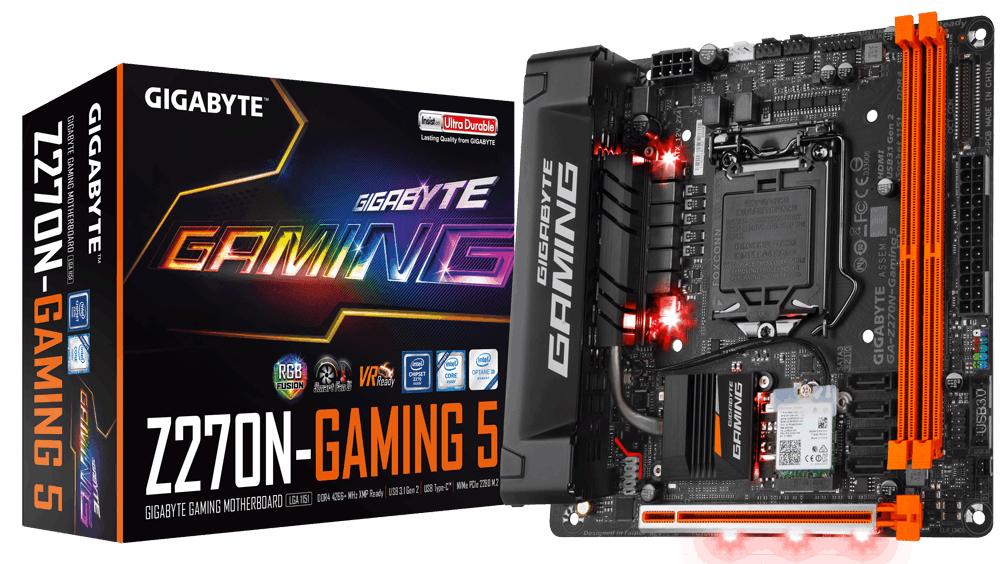 Gigabyte GA-Z270N-GAMING 5 Intel Z270 LGA 1151 (Socket H4) Mini ITX motherboard