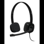 Logitech H151 Binaural Head-band Black headset