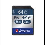 Verbatim Pro memory card 64 GB SDXC Class 10 UHS