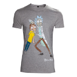 RICK AND MORTY Men's Crazy Eyes Distressed T-Shirt, Small, Grey (TS130524RMT-S)