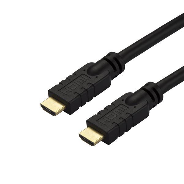 StarTech.com Cable de 10 metros HDMI con ethernet de alta velocidad Activo 4K - Cable HDMI CL2 para Instalación en Pared