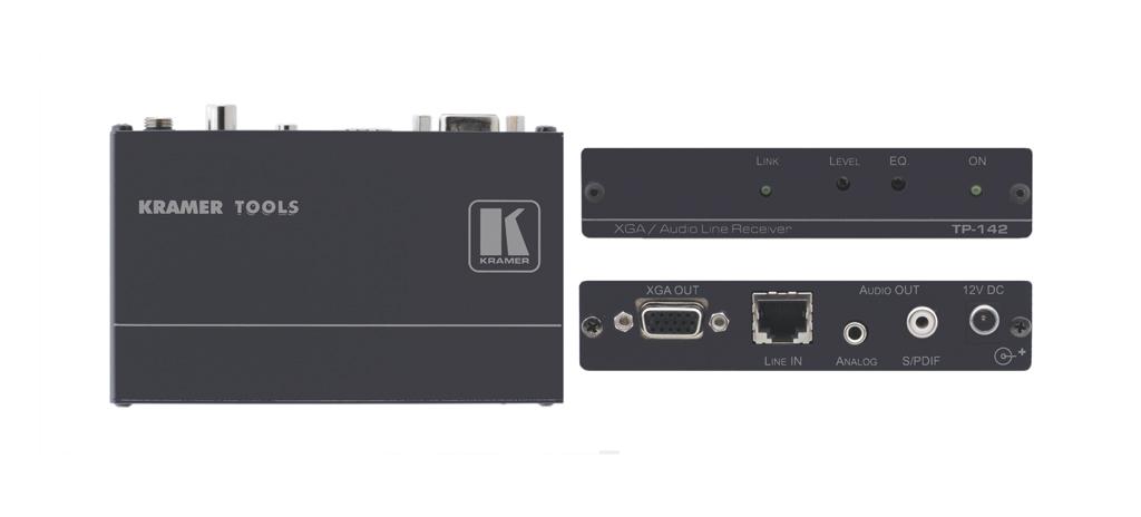 Kramer Electronics TP-142 AV transmitter Black AV extender