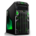 GameMax Centurion Gaming Case with Front & Rear Green LED Fans