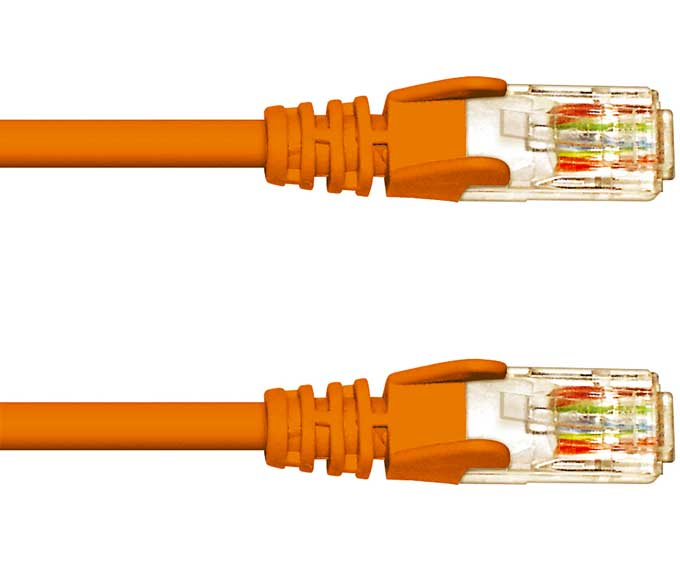 FDL 0.15M CAT 5E NETWORK PATCH CABLE - ORANGE