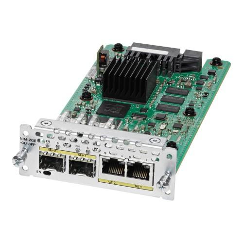 Cisco NIM-2GE-CU-SFP= módulo conmutador de red Gigabit Ethernet