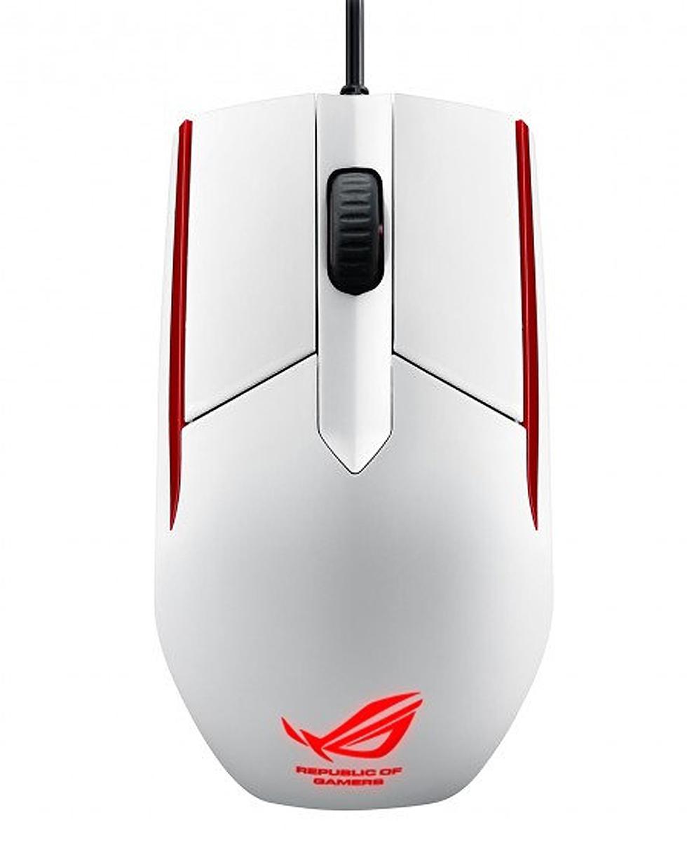 ASUS ROG Sica USB Optical 5000DPI Ambidextrous White mice