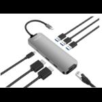 BLUPEAK USB-C MULTI-PORT HUB, HDMI(2), USB3.0(2), USB-C(1), GbE(1), PD, (2 YEAR WARRANTY)
