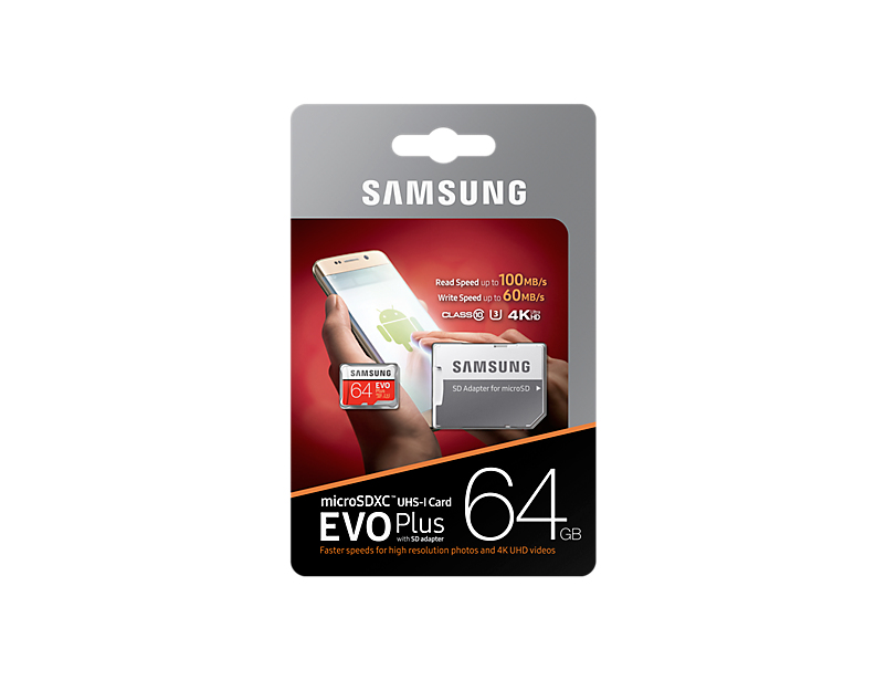 Micro Sd 64GB Evo Plus Flash Card Class 10 100mb/s
