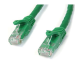 StarTech.com Cat6 patch cable with snagless RJ45 connectors – 50 ft, green