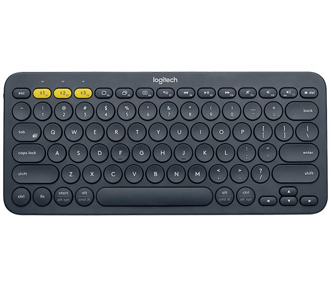 Logitech K380 mobile device keyboard Russian Black Bluetooth