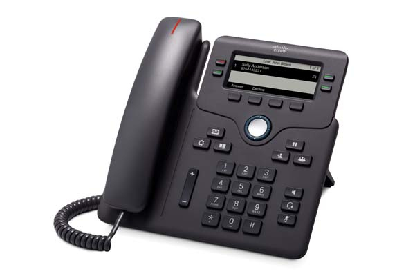 Cisco 6851 IP phone Black 4 lines Wi-Fi
