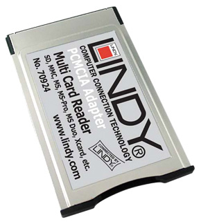 Lindy 46-in-1 PCMCIA Card Reader Silver card reader