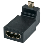 Manhattan HDMI to HDMI Micro Adapter, 4K, Female to Male, 10.2 Gbps, 90° Up Angle, Polybag
