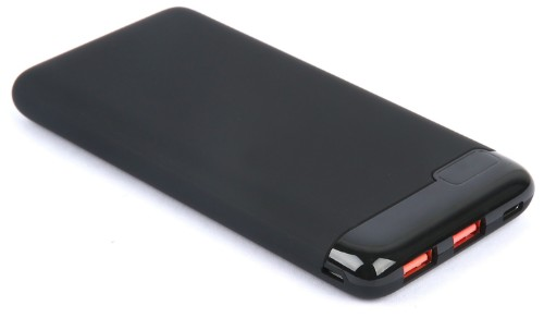 eSTUFF 10.000 mAh power bank Lithium Polymer (LiPo) 10000 mAh Black
