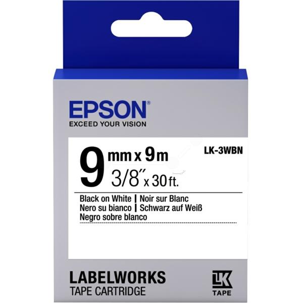 Epson C53S653003 (LK-3WBN) Ribbon, 9mm x 9m