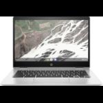 """HP Chromebook Enterprise x360 14E G1 DDR4-SDRAM 14"""" 1920 x 1080 pixels Touchscreen 8th gen Intel® Core™ i5 8 GB 64 GB eMMC Wi-Fi 5 (802.11ac) Chrome OS for Enterprise Silver"""