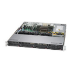 Supermicro SuperServer 5018R-M Intel® C612 LGA 2011 (Socket R) Rack (1U), - Black,Grey