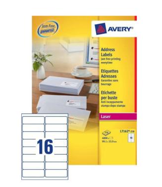 Avery L7162-250 addressing label White Self-adhesive label
