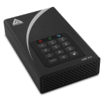 Apricorn Aegis Padlock DT external hard drive 6000 GB Black