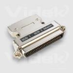 Videk C50F to HP DB68M SCSI Adaptor Silver SCSI cable