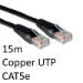 TARGET RJ45 (M) to RJ45 (M) CAT5e 15m Black OEM Moulded Boot Copper UTP Network Cable